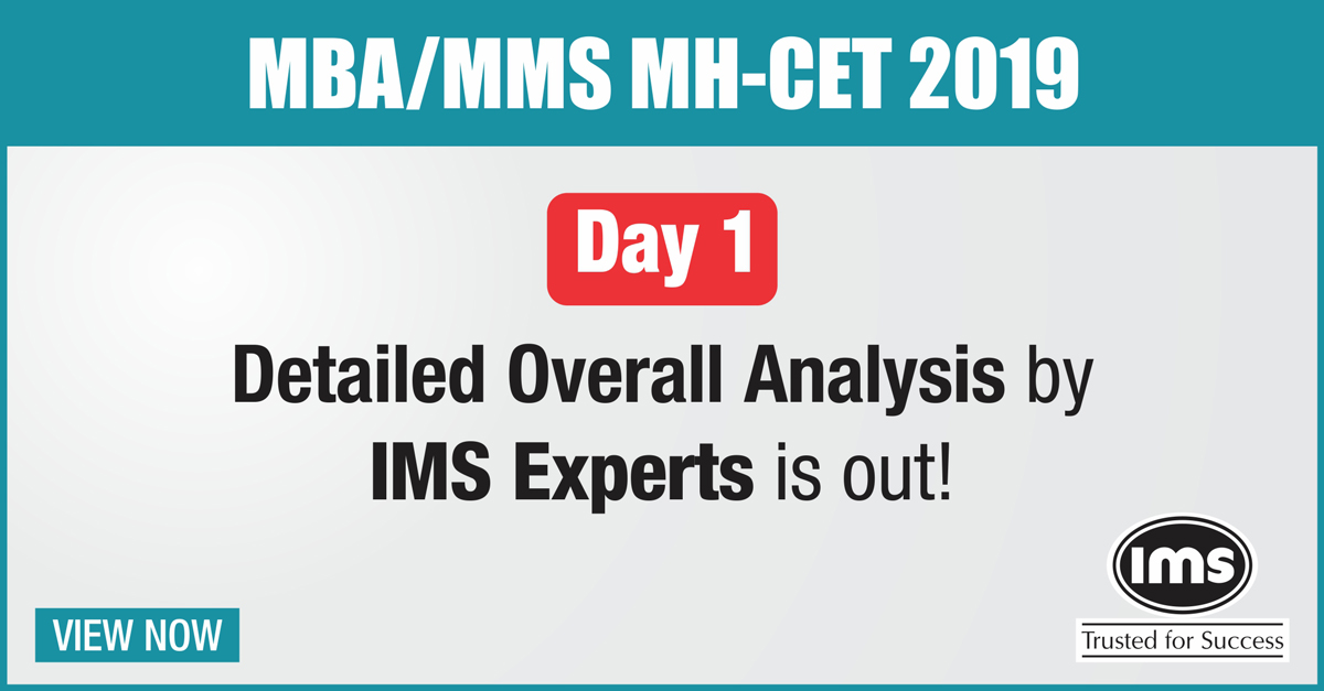 IMS MBA/MMS MH-CET 2019 exam Analysis | MH-CET 2019 Day 1 Test Analysis