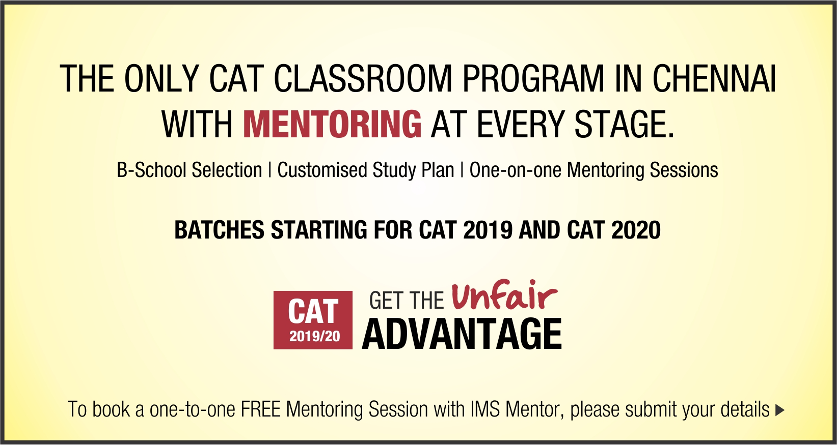 Coaching / Training for entrance exams like CAT, GMAT, GRE